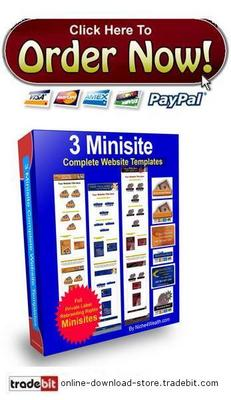 Product picture 3 Minisite Complete Website Templates
