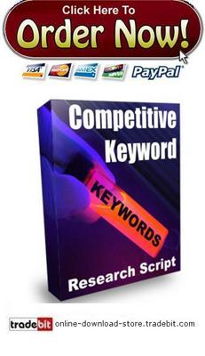 Product picture Competitive Keyword Research Script
