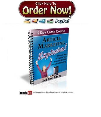 Product picture Article Marketing Explosion