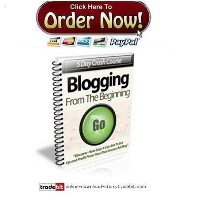 Product picture Blogging From The Beginning Crash Course