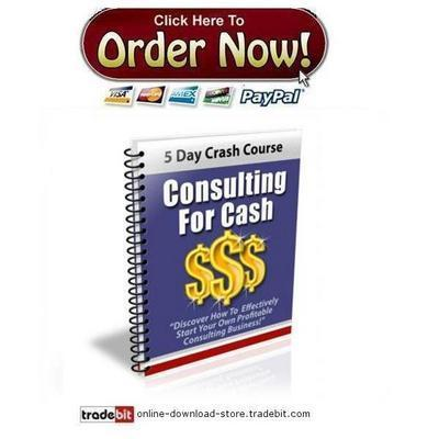Product picture Consulting For Cash Crash Course